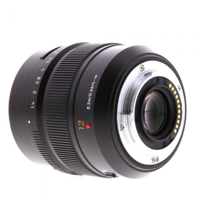 Panasonic Lumix Leica 12mm f/1.4 DG Summilux ASPH. AF Lens for Micro Four Thirds MFT, Black {62} H-X012