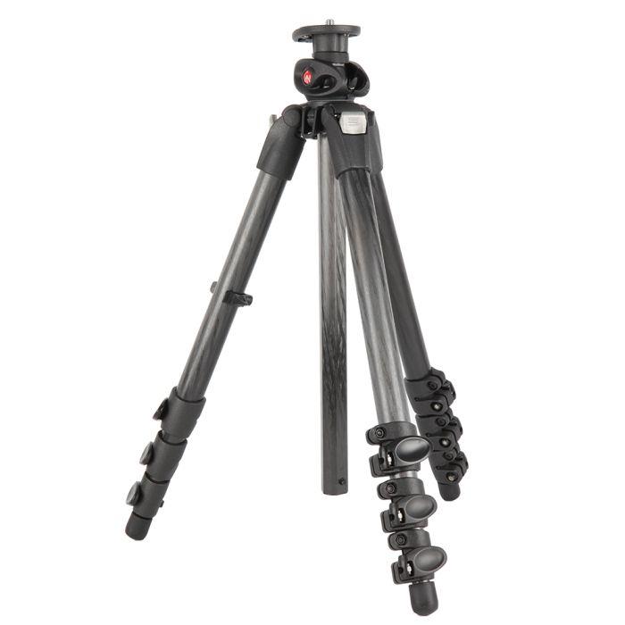 Manfrotto 055CXPRO4G Carbon Fiber Tripod Legs, 4-Section, 21.5-67\