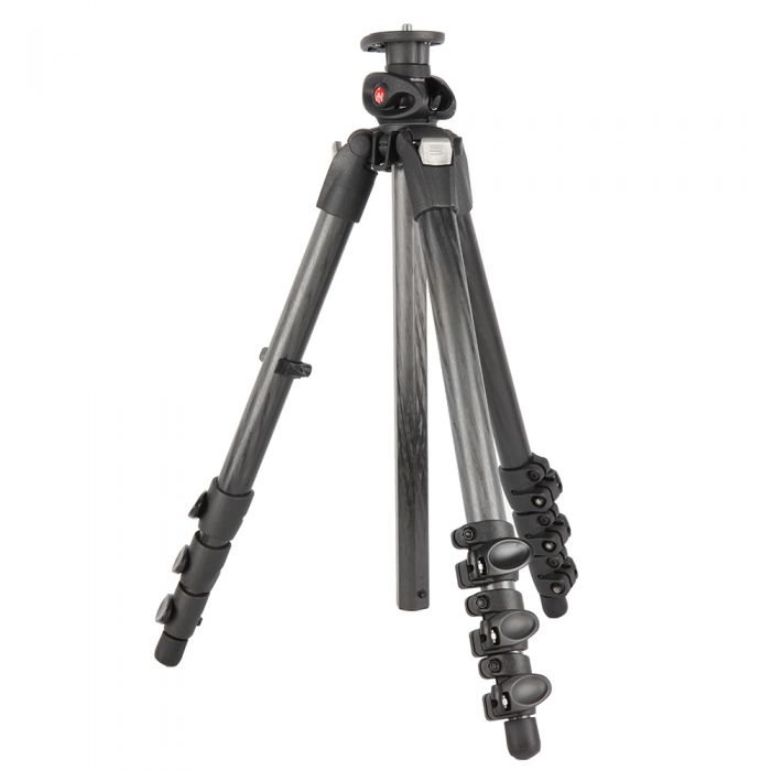 Manfrotto 055CXPRO4G Carbon Fiber Tripod Legs, 4-Section, 21.5-67\