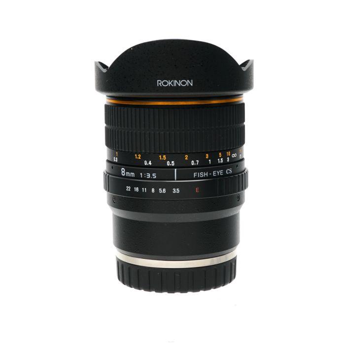 Rokinon 8mm f/3.5 Aspherical IF CS UMC Fisheye Manual Focus, Manual Aperture Lens for Sony E-Mount