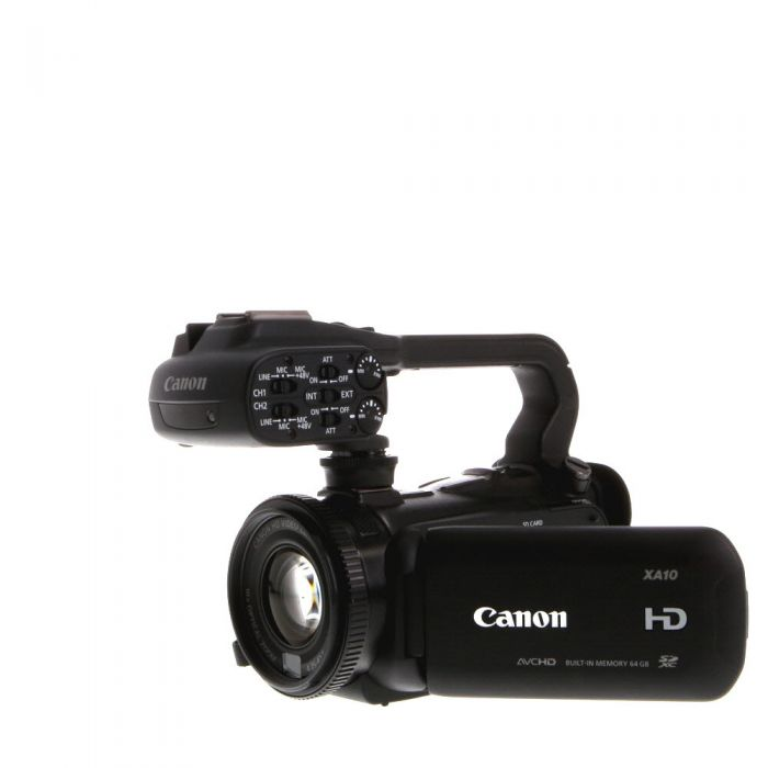 Canon XA10 HD Video Camera With XLR Carry Handle, Without Microphone Holder