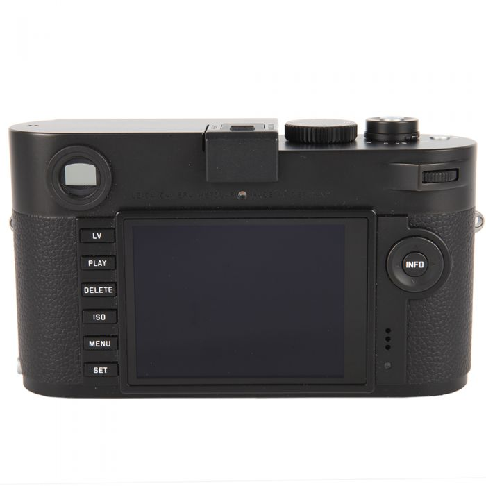 Leica M Monochrom (Typ 246) Digital Camera Body, Black Chrome Finish {24MP} 10930 with Handgrip (14496)