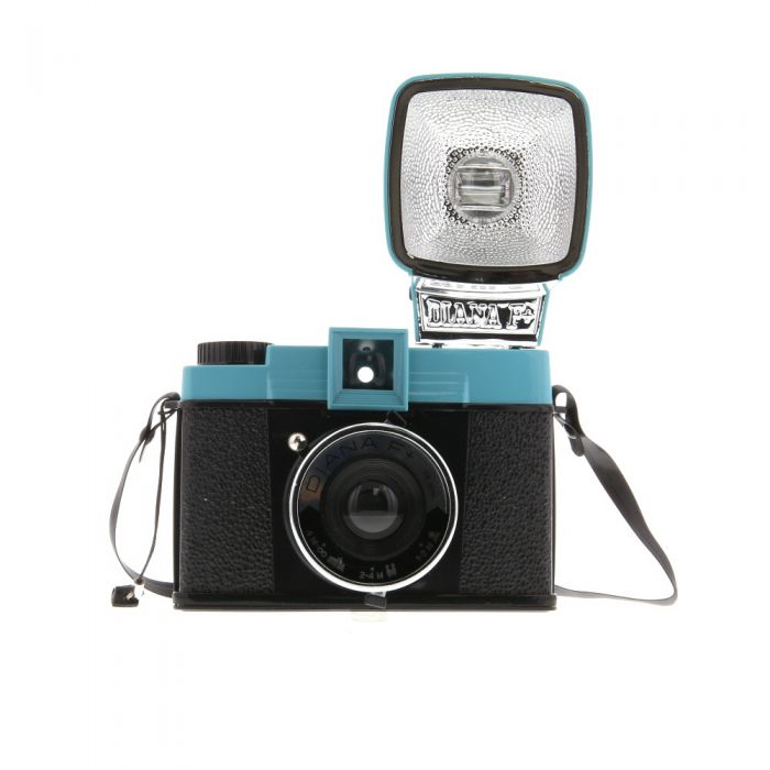 Lomography Diana F+ Camera With Diana Flash Teal Blue/Black (hp700)