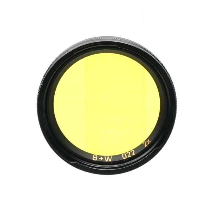 B+W BAY I Yellow 022 2X Filter
