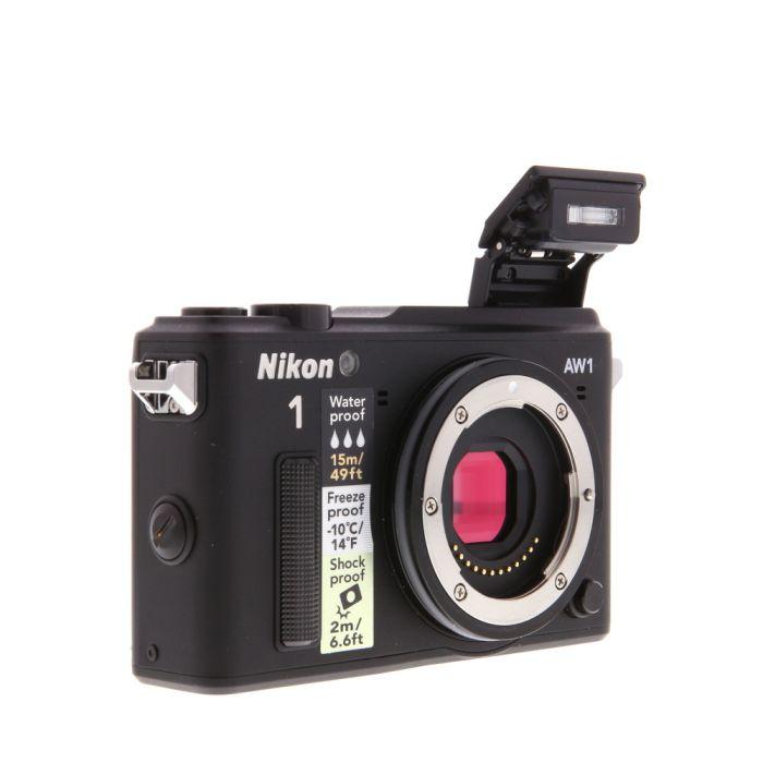 Nikon 1 AW1 Mirrorless Digital Camera Body, Black {14.2 M/P}