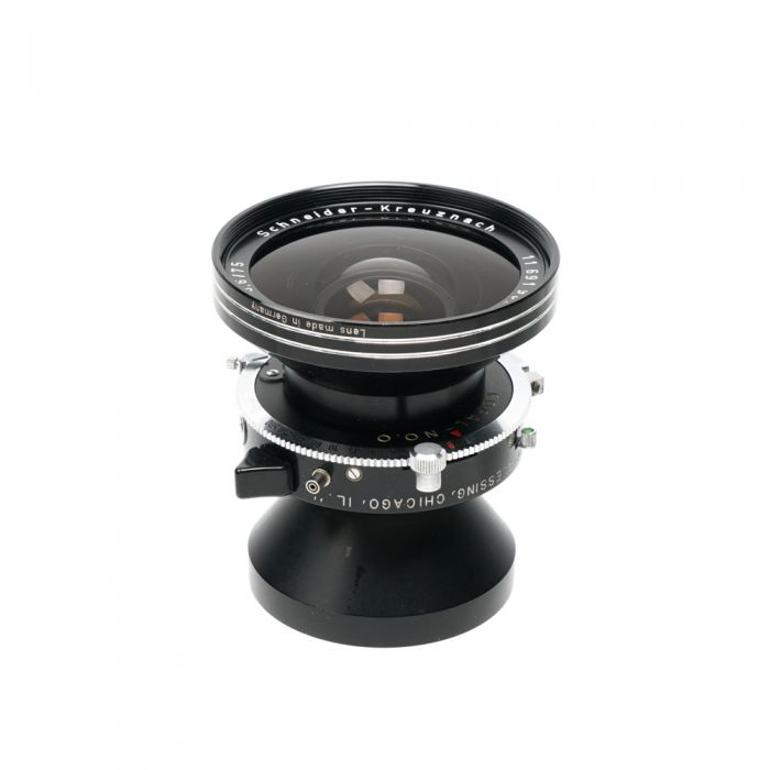 Schneider 75mm f/5.6 Super-Angulon BT Copal 0 (35MT) 4x5 Lens with Center Filter III