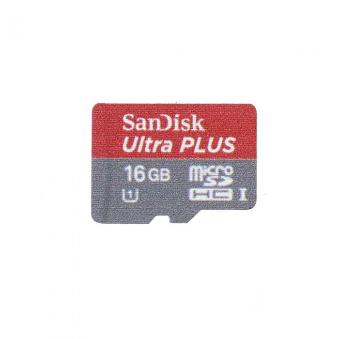 Sandisk 16GB UHS 1 Ultra Plus Micro SDHC I Memory Card With Adapter