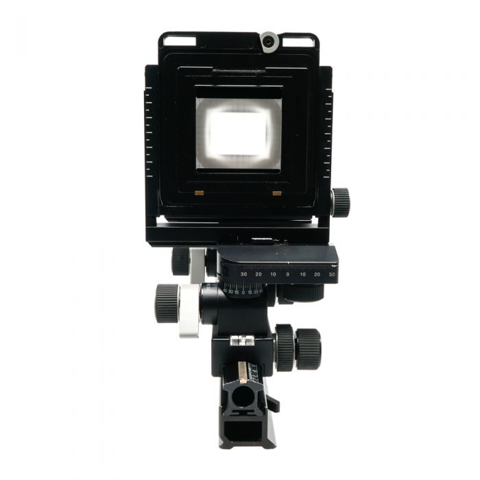 Arca Swiss 6X9 F-Line Metric (Uses 110mm Board) View Camera Body with Hasselblad V Digital Back Holder (200009) and Ground Glass, Standard Bellows (071001)