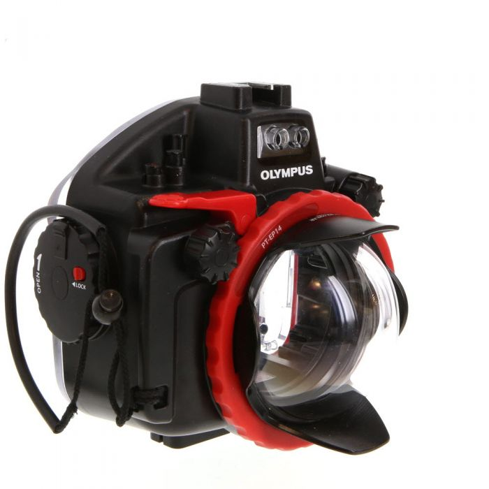 Olympus PT-EP14 Waterproof Underwater Housing for OM-D E-M1 Mark II with AOI DLP-02 Lens Port for 8mm Panasonic Lens (Up to 197\