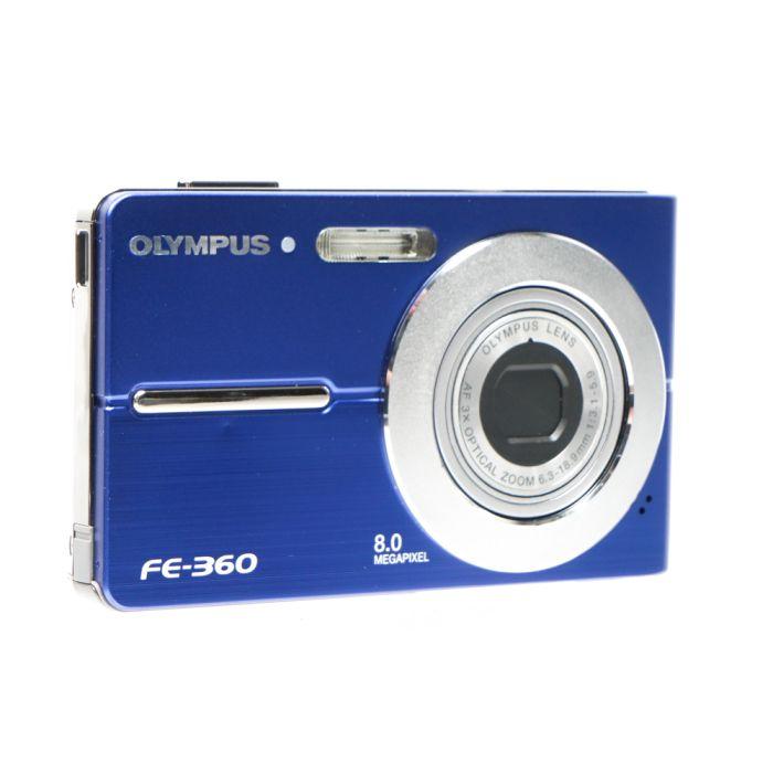 Olympus FE-360 Blue Digital Camera {8 M/P}