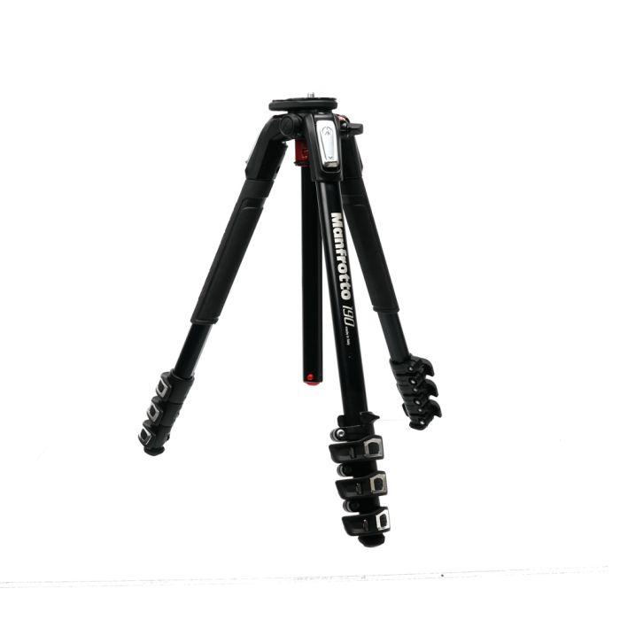 Manfrotto MT190XPRO4 Black Aluminum 4-Section Tripod Legs 19.2-62.9\