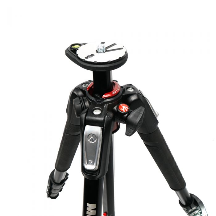 Manfrotto MT190XPRO4 Black Aluminum 4-Section Tripod Legs 19.2-62.9