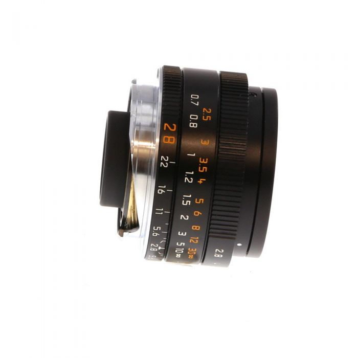 Leica 28mm f/2.8 Elmarit-M ASPH. M-Mount Lens with Protection Ring, Germany, Black, 6-Bit {39} 11677
