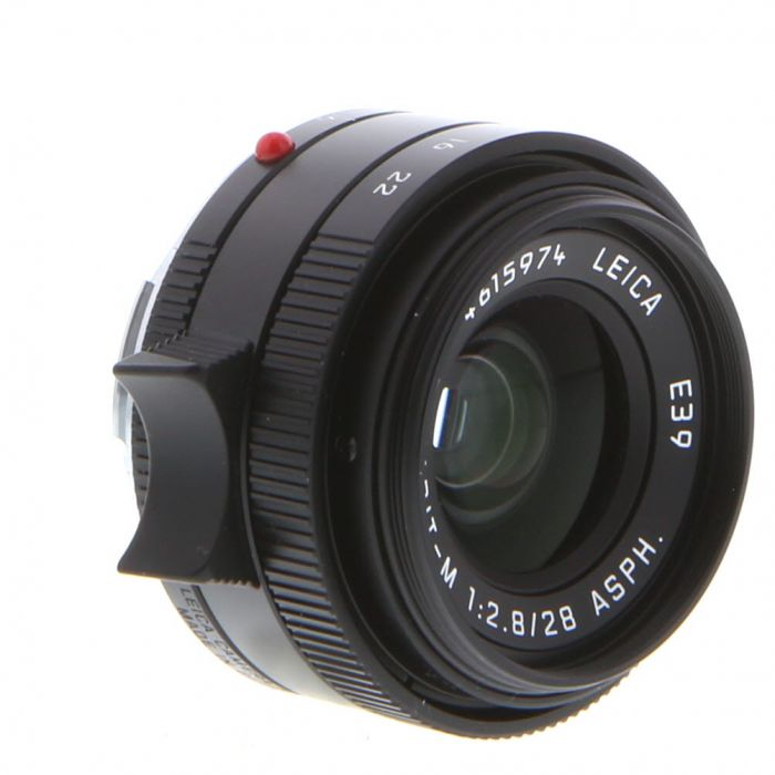 Leica 28mm f/2.8 Elmarit-M ASPH. M-Mount Lens without Protection Ring, Germany, Black, 6-Bit {39} 11677