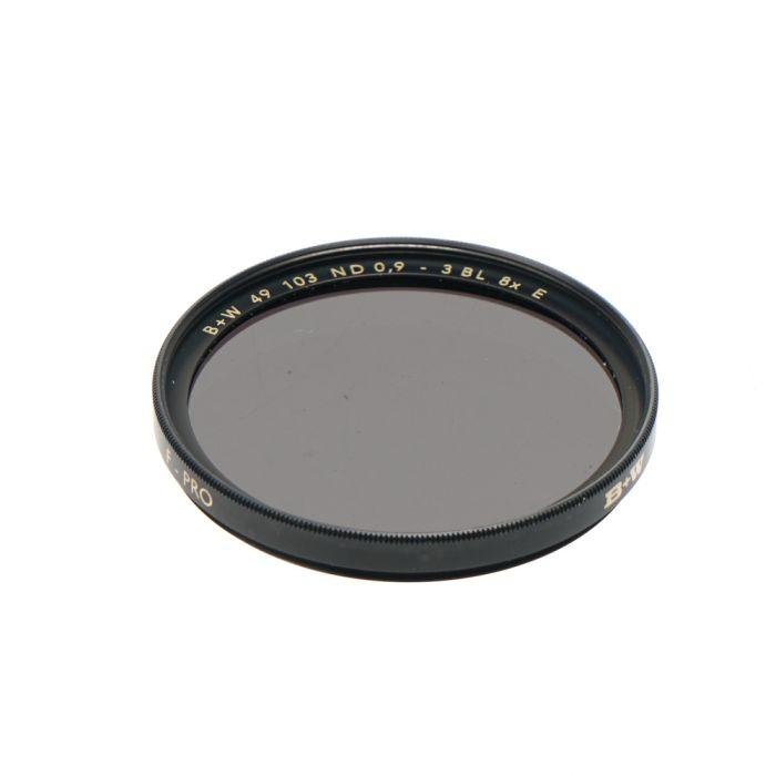 B+W 49mm Neutral Density 103 ND 8X F-Pro Filter