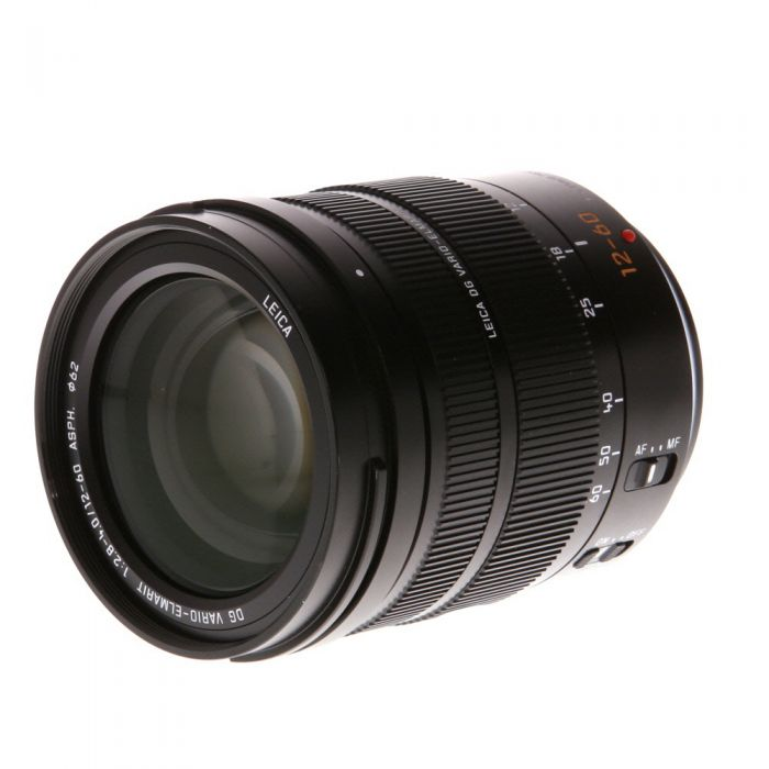 Panasonic Leica Lumix 12-60mm f/2.8-4 DG Vario-Elmarit Asph. Power O.I.S. AF Lens for Micro Four Thirds System, Black {62}