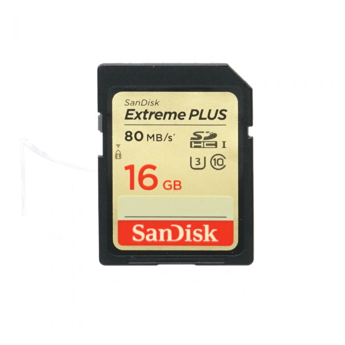 Sandisk 16GB 80 MB/s Class 10 UHS 3 Extreme Plus SDHC I Memory Card