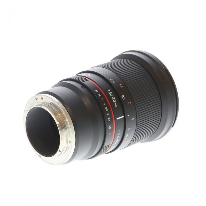 Rokinon 20mm F/1.8 ED AS UMC Manual Focus, Manual Aperture Lens For Sony E Mount {77}