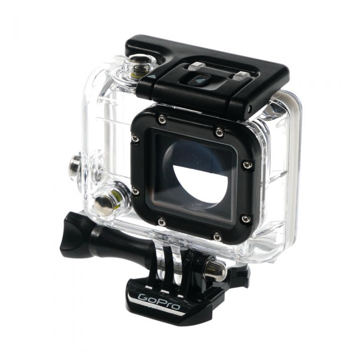 GoPro Waterproof Dive Housing (Waterproof to 197\') for HERO3, HERO3+, HERO4 with Standard Back Door, Quick Release Buckle