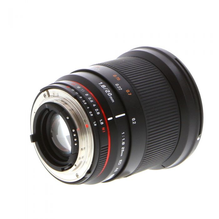 Rokinon 20mm F/1.8 ED AS UMC (Manual Focus, Manual Aperture) Lens For Nikon {77}