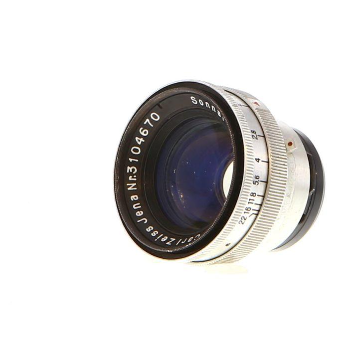 Zeiss 50mm (5cm) F/2 Sonnar T Jena Aluminum Lens for Contax Rangefinder {40.5}