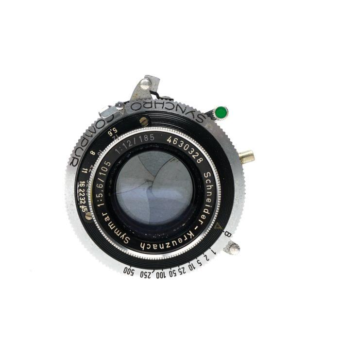 Schneider 105mm f/5.6 / 185mm f/12 Symmar Synchro-Compur B (27 Mount) 2x3 Lens