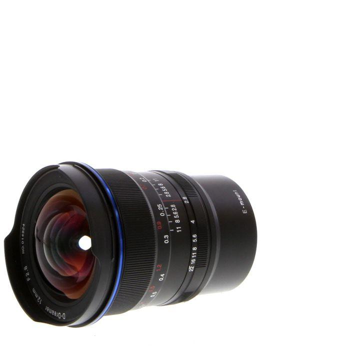 Venus Optics Laowa 12mm f/2.8 D-Dreamer (Zero-D) Manual Focus, Manual Aperture Lens for Sony E-Mount, Black