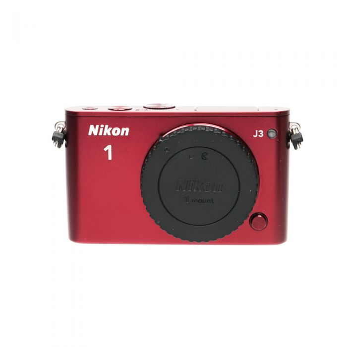 Nikon 1 J3 Mirrorless Digital Camera Body, Red {14.2MP}
