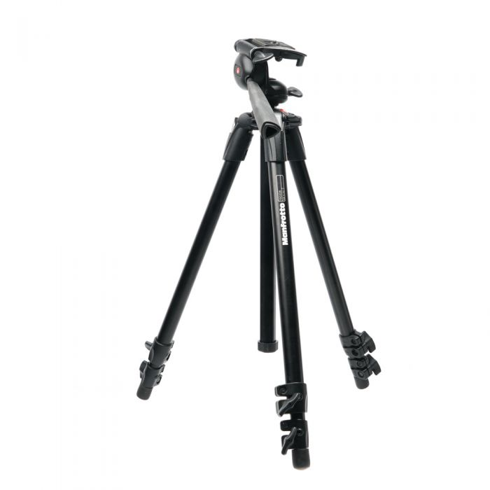 Manfrotto 190XDB Aluminum 3-Section Tripod with Fixed 3-Way Head, Black 25-61.4\