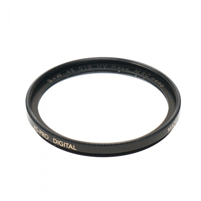 B+W 43mm UV Haze 010 MRC Nano XS-Pro Digital Black Filter