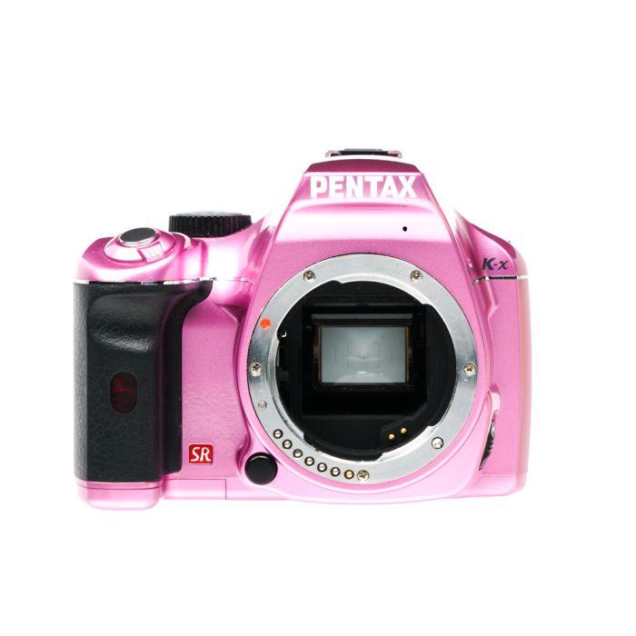 Pentax K-X Digital SLR Camera Body Only, Metal Fuchsia {12.4 M/P}