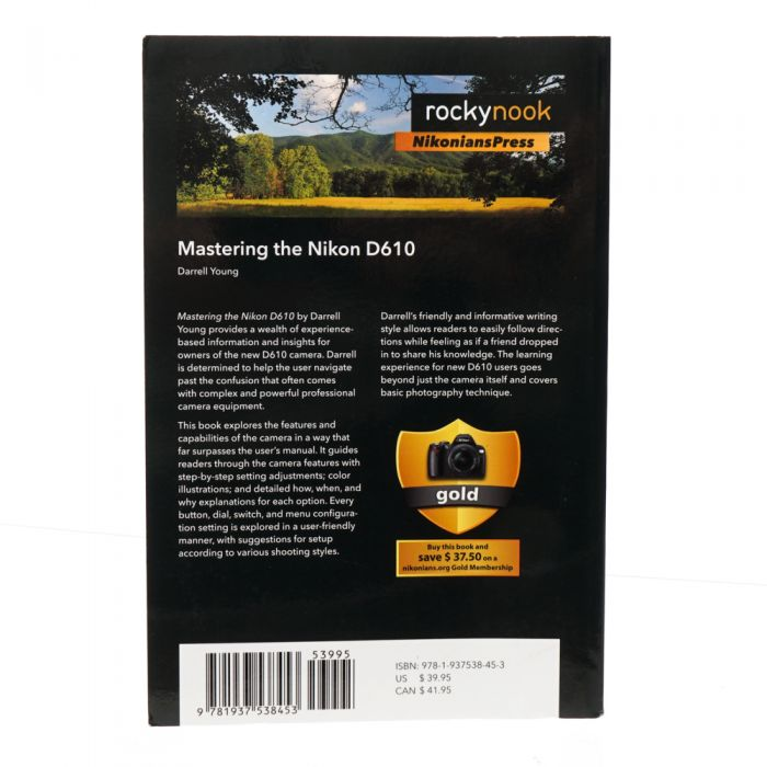 D610 Mastering The Nikon D610,Darrell Young,2014,Soft Cover,547 Pages