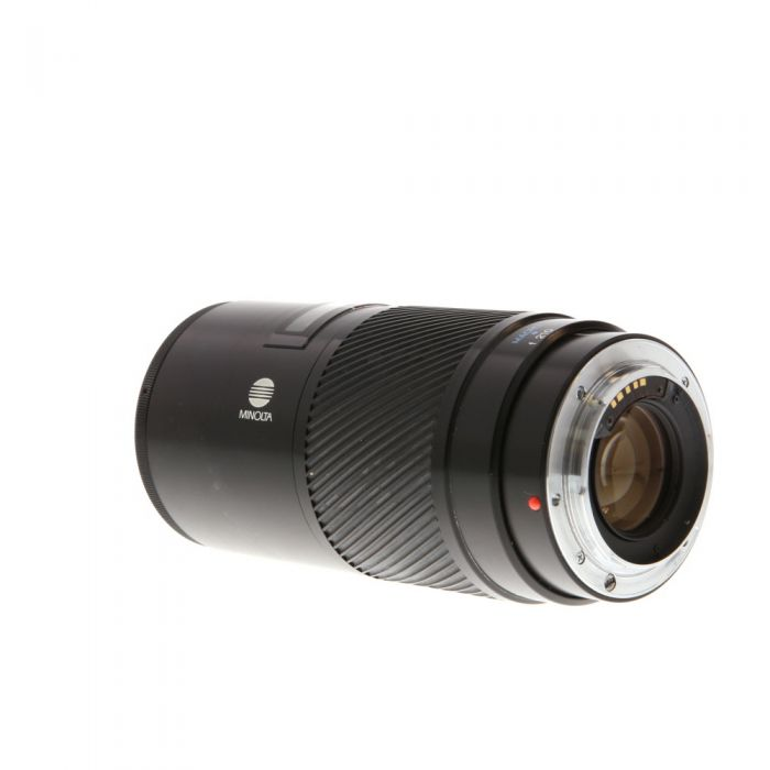 Minolta 70-210mm F/4 Macro (XX) Alpha Mount Autofocus Lens {55} Demonstration Model with Transparent Rear Lens Barrel