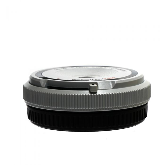 Olympus 9mm F/8 Fisheye Body Cap White Manual Focus Lens For Micro Four Thirds System