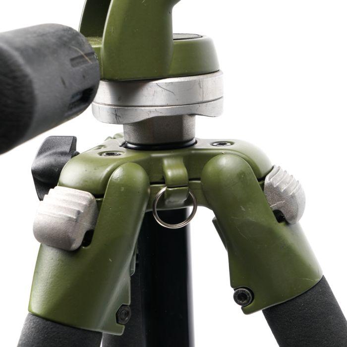 Bogen/Manfrotto 3205GN Green Aluminum Tripod With 3030G Green 3-Way Head, 28-63.5\