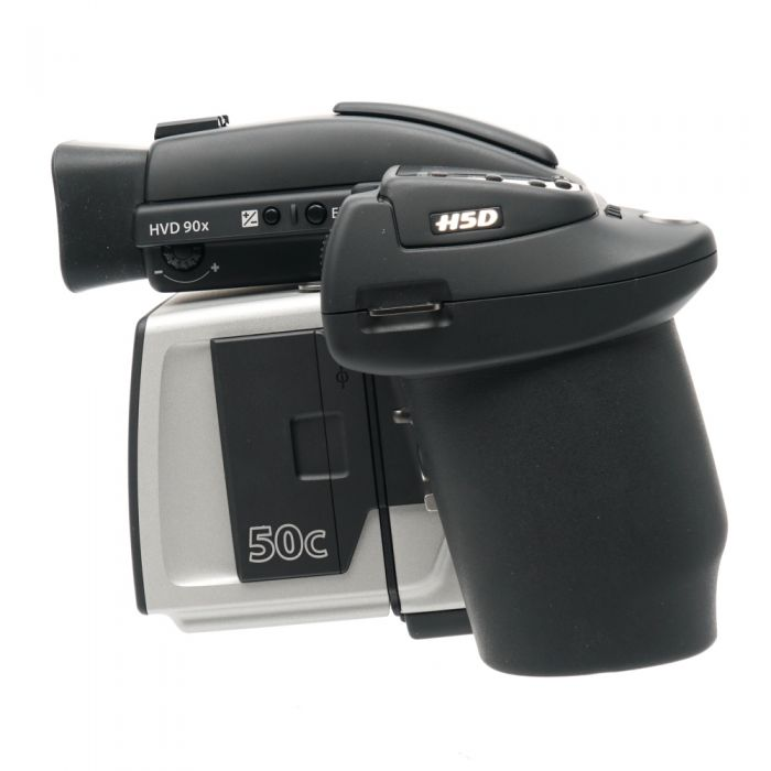 Hasselblad H5D-50c Medium Format DSLR Camera Body {50MP} with Battery Grip (7.2V/2900mAh), HVD 90X Viewfinder (Black)