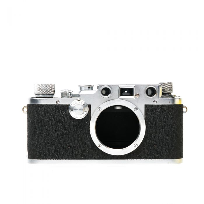 Leica IIIC 35mm Camera Body, Chrome with Sharkskin (Modified to Accept SELIS Flash Baseplate)