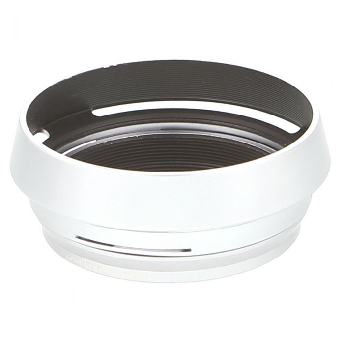 JJC Brand LH-X100 Lens Hood for Fujifilm X100/100S/100T, Silver, With 49mm Adapter