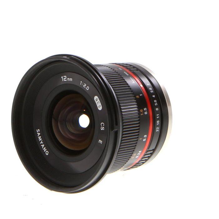 Samyang 12mm f/2 NCS CS Manual Focus, Manual Aperture APS-C Lens for Sony E Mount, Black {67}