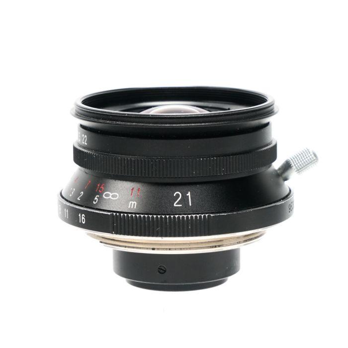Voigtlander 21mm f/4 Color-Skopar Lens for M39 Leica Screw Mount, Black {39} without Name Ring, or Finder