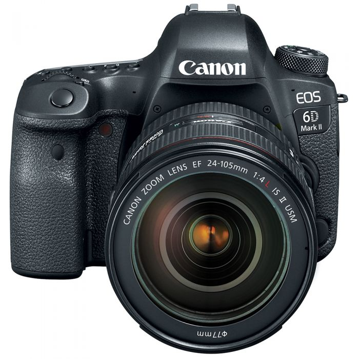 Canon EOS 6D Mark II Digital Camera, With EF 24-105mm f/4 L IS II USM Lens {26.2 M/P} [77]