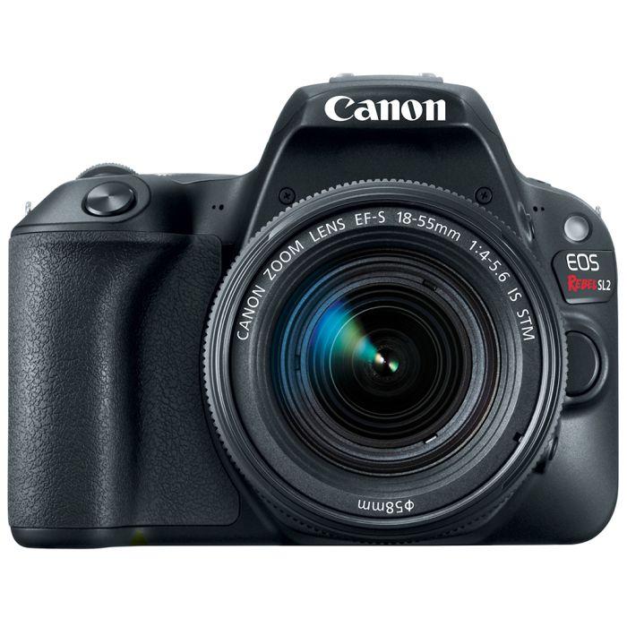 Canon EOS Rebel SL2 DSLR Camera, Black with EF-S 18-55mm F/4-5.6 IS STM Lens {18MP}