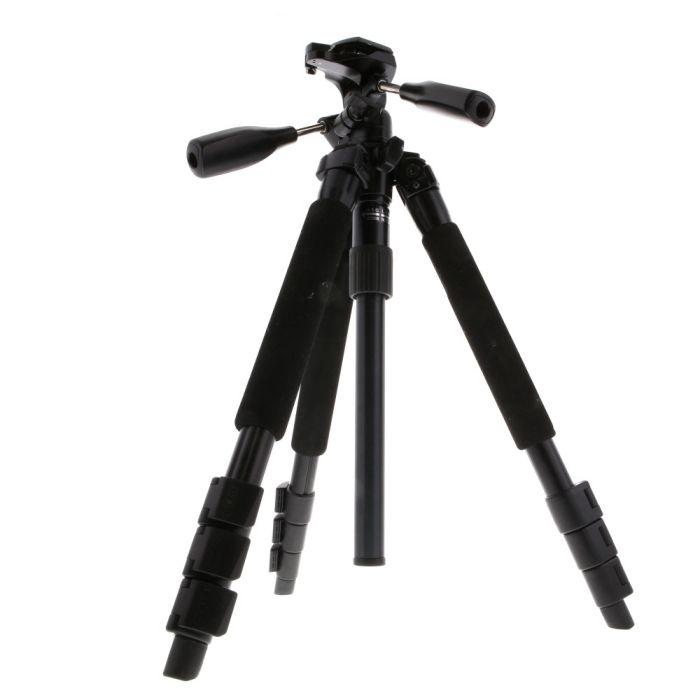 Slik Pro 340DX Tripod with SH-705E 3-Way Head, Black, 4-Section, 19.3-57.9\