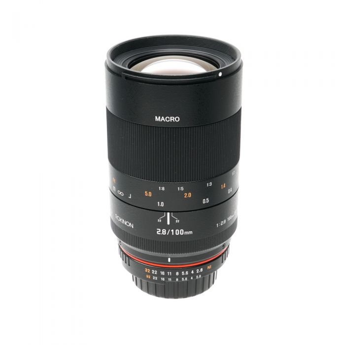 Rokinon 100mm F/2.8 Macro ED IF UMC Manual Focus, Manual Aperture Lens For Nikon With Focus Confirmation Chip (CPU Contacts) {67}