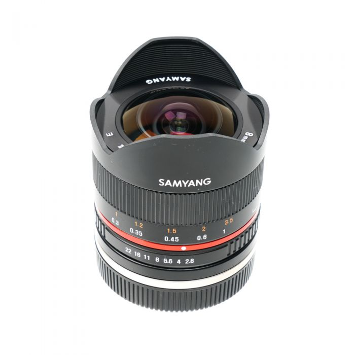 Samyang 8mm f/2.8 UMC Fisheye II Manual Focus, Manual Aperture Lens for Sony E- Mount