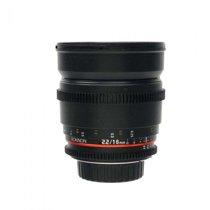 Rokinon Cine 16mm T2.2 ED AS IF UMC CS Manual Lens for Nikon APS-C Sensor DSLR {77}
