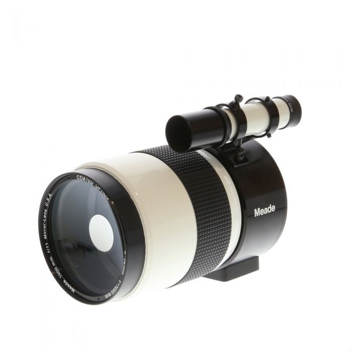 Meade 1000mm F/11 (D=90mm) Mirror White Mirror Manual Focus Lens with Attached Spotting Scope, T-Mount Adapter For Nikon