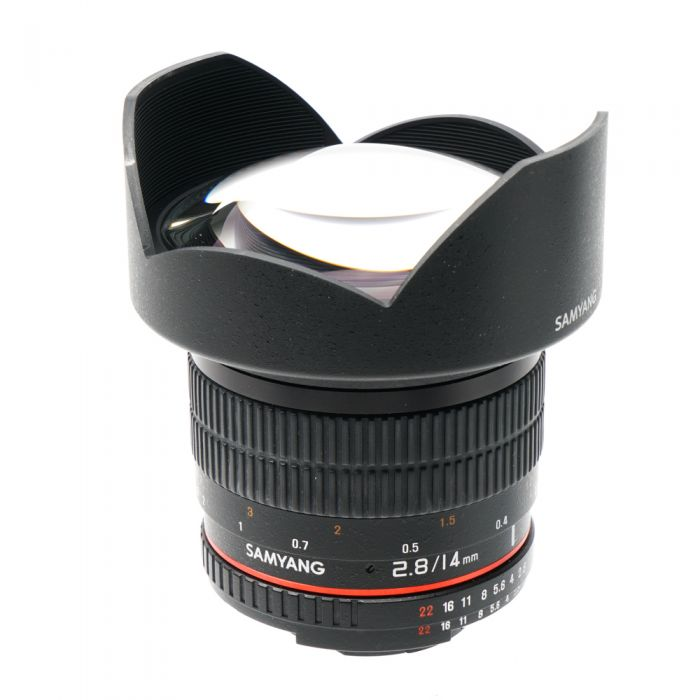 Samyang 14mm F/2.8 ED AS IF UMC Manual Focus Lens For Nikon F Mount With Focus Confirmation Chip (CPU Contacts)