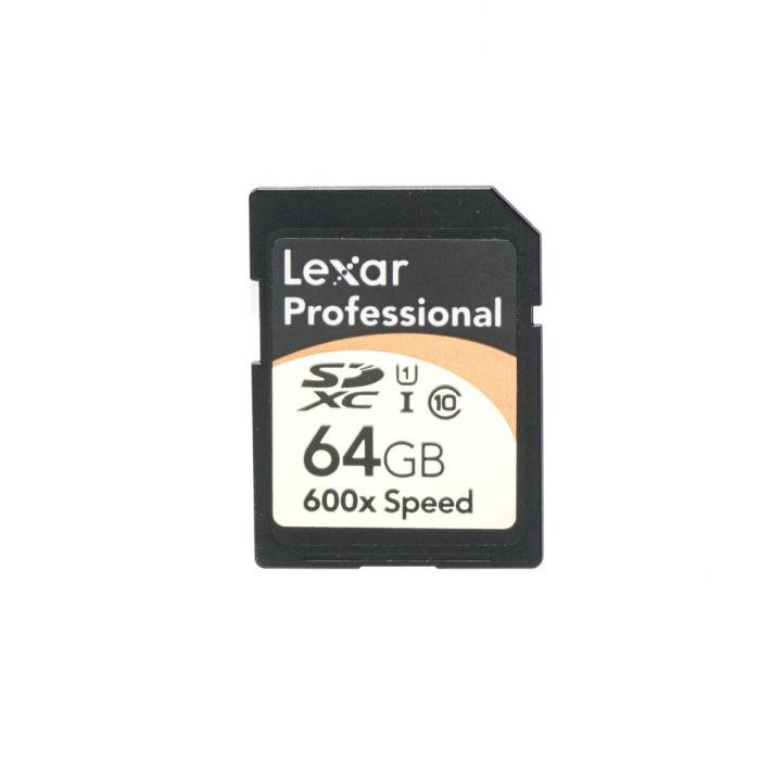 Lexar Pro 64GB 600X Class 10 UHS I SDXC I Memory Card