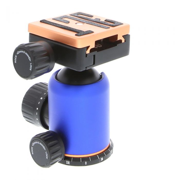 3 Legged Thing AH1 AirHed 1 Magnesium Alloy Ball Head with Knob Release, Blue (Requires Quick Release Plate)